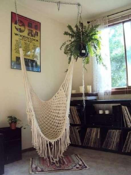 37. Modelo de rede cadeira de balanço feita em macramê. Fonte: Pinterest