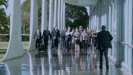 Todas as filmagens aconteceram dentro do Palácio da Alvorada, residência oficial da Presidência da República