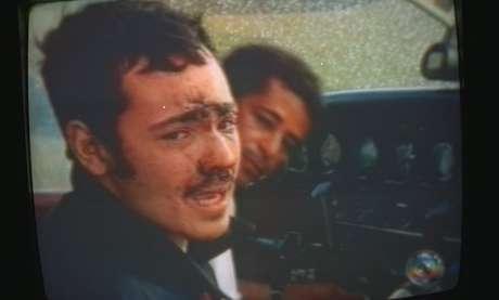 O ator Danton Mello ao ser resgatado no Monte Roraima após acidente de helicóptero que matou um membro da equipe do 'Globo Ecologia'