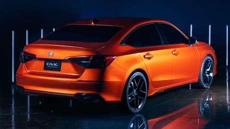 Traseira do novo Honda Civic deve manter linhas do protótipo apresentado no ano passado.