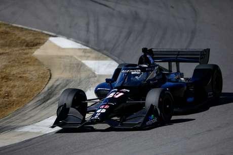 Romain Grosjean em ação pela primeira vez na Indy