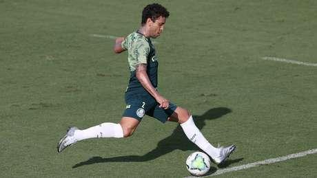 Marcos Rocha está de volta após ter contraído o novo coronavírus (Foto: Cesar Greco/Palmeiras)