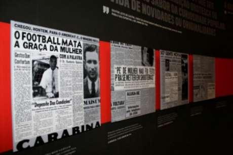 Exposição temporária CONTRA-ATAQUE! As Mulheres do Futebol, do Museu do Futebol (Foto: Mônica Saraiva/Museu do Futebol)