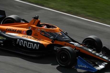 Helio Castroneves guiou a McLaren no GP de Indianápolis 2 em 2020
