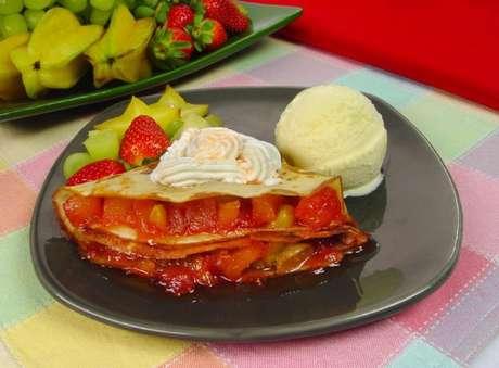 Guia da Cozinha - Café da manhã fácil e saboroso com crepe de frutas
