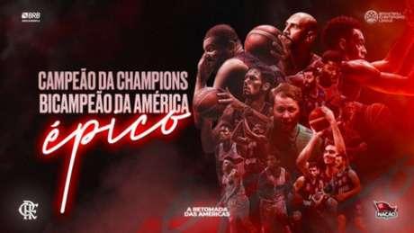 Flamengo conquistou novamente a América (Reprodução / Twitter / Flamengo)