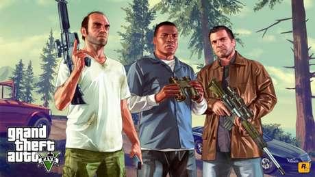 Trevor, Franklin e Michael, protagonistas de GTA 5