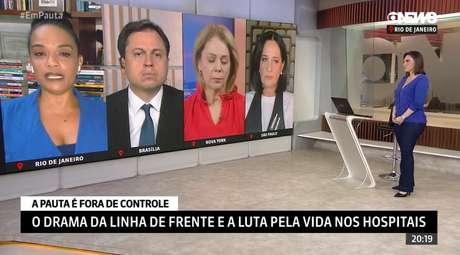 Os demais jornalistas do 'GloboNews em Pauta' se solidarizaram com a dor e a revolta manifestadas por Flávia Oliveira ao vivo