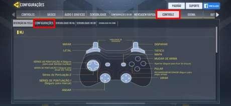 Configurações de controle em Call of Duty: Mobile