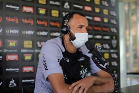 Everson rechaçou que haja ambiente ruim no Galo-(Bruno Cantimi/Atlético-MG)