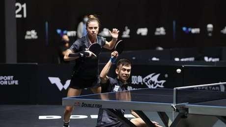 Bruna Takahashi e Vitor Ishiy disputavam vaga no tênis de mesa