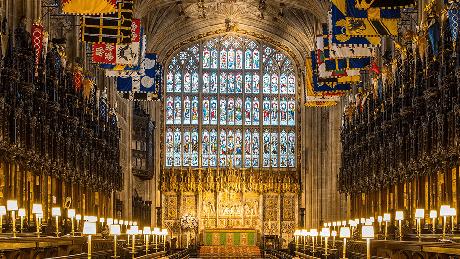 Capela de St George, no castelo de Windsor, sediará a cerimônia