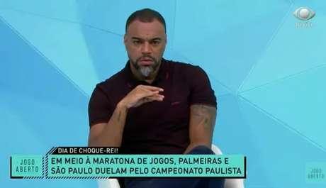 Denílson apostou na vitória do São Paulo sobre o Palmeiras no Choque-Rei desta sexta-feira (Reprodução / Band)