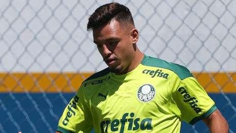 Gabriel Menino sentiu dores musculares e é desfalque confirmado contra o São Paulo (Foto: Cesar Greco/Palmeiras)