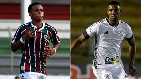 Fluminense, de Kayky, encara o Botafogo, de Kanu (Foto: Mailson Santana/Fluminense F.C - Vítor Silva/Botafogo)
