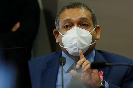 Ministro Nunes Marques em audiência no Senado 21/10/2020 REUTERS/Adriano Machado