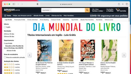 Amazon dá livros para ler no Kindle, PC ou celular