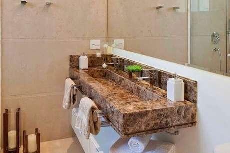 33. Bancada de granito para pia de lavabo – Fonte Construindo Decor