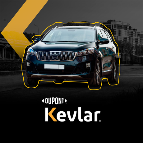 Blindagem de carros eletrificados exige uso de materiais variados como a fibra Kevlar para reduzir o peso.
