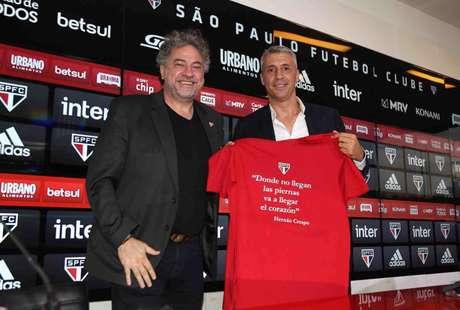 Casares elogiou a fase do São Paulo, comissão técnica de Crespo e os jogadores (Foto: Divulgação/São Paulo)