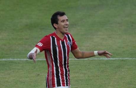 Pablo fez o gol do São Paulo no Choque-Rei (Foto: Rubens Chiri/saopaulofc.net)