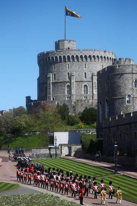 Uma banda tocou as músicas no funeral, que aconteceu nos jardins do Castelo de Windsor