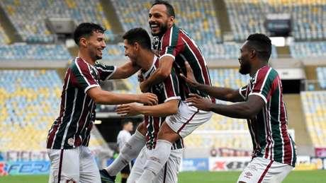 Nino comemorando seu gol contra o Botafogo. (Foto: MAILSON SANTANA/FLUMINENSE FC)
