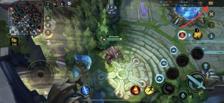 botão de chat em Wild Rift