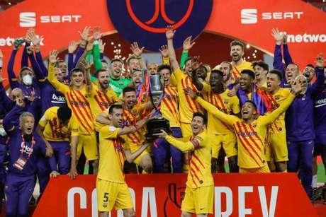 Barcelona foi campeão da Copa do Rei pela 31ª vez (Foto: HANDOUT / RFEF / AFP)