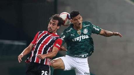 Danilo Barbosa foi um dos melhores em campo do Verdão contra o São Paulo (Foto: Cesar Greco/Palmeiras)