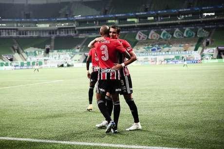 Pablo marcou o gol da vitória sobre o Palmeiras (Foto: Rodrigo Corsi/Paulistão)