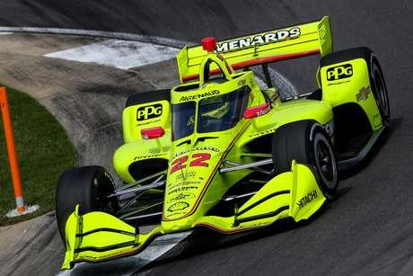 Simon Pagenaud caiu ainda no Q1 do GP do Alabama