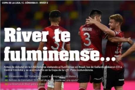 Reprodução da capa do Olé, após massacre do River Plate (Foto: Reprodução/ site Olé)
