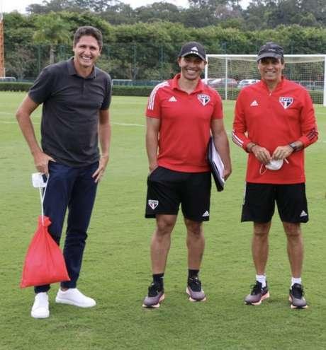 Alex teve primeiro desafio como técnico do sub-20 do São Paulo (Foto: Reprodução/Instagram)