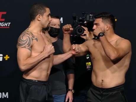 Robert Whittaker e Kelvin Gastelum fazem a luta principal do UFC Vegas 24 (Foto: Reprodução/UFC/YouTube)
