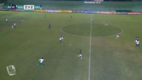 O Vasco ficou sem fôlego para buscar o empate no final da partida (Imagem: Reprodução/Carioca 2021)