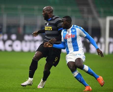 A zaga do Napoli será testada contra Lukaku e Lautaro Martínez (Foto: Divulgação / Site oficial da Inter de Milão)