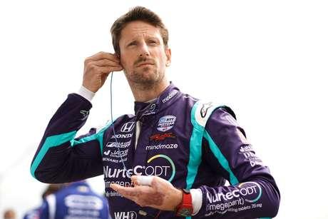 Romain Grosjean celebrou a boa classificação em Barber