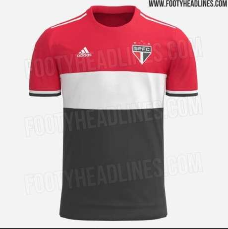 Suposto novo modelo da terceira camisa do São Paulo (Foto: Reprodução/Footy Headlines)