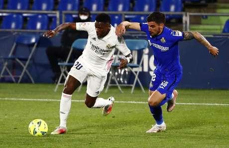 Vinicius Junior foi título no empate entre o Real Madrid e o Getafe