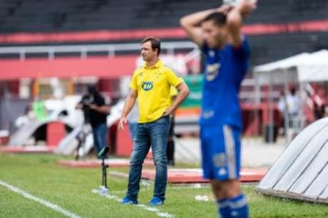 Conceição culpou o gramado do Manduzão na derrota do Cruzeiro para o Pouso Alegre-(Bruno Haddad/Cruzeiro)