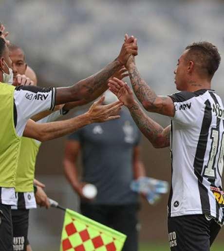 O Galo não teve boa atuação, mas confirmou o primeiro lugar na fase de classificação do Estadual-(Pedro Souza/Atlético-MG)
