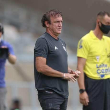 Cuca questionou as cobranças feitas pelo desempenho do time contra o Boa Esporte-(Pedro Souza/Atlético-MG)