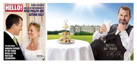O neto mais velho da rainha Elizabeth vendeu as fotos de seu casamento e protagonizou publicidade usando a fama da soberana