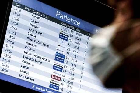 Voos regulares entre Itália e Brasil estão proibidos desde 16 de janeiro