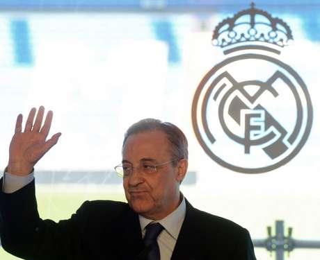 Florentino Pérez é presidente do Real Madrid e da Superliga (Foto: DOMINIQUE FAGET / AFP)