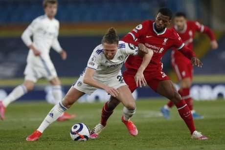 Leeds e Liverpool empataram em 1 a 1 (Foto: PAUL ELLIS / POOL / AFP)