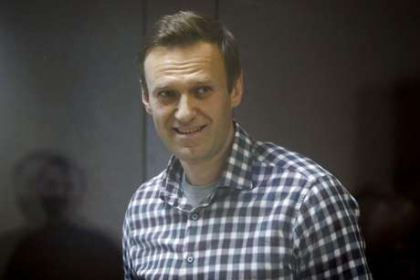 Líder opositor russo Alexei Navalny durante audiência em Moscou 20/02/2021 REUTERS/Maxim Shemetov