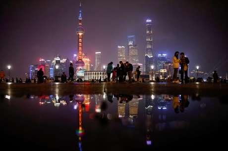 Visão geral do distrito financeiro de Pudong, em Xangai, China. 27 de março de 2021. REUTERS/Aly Song