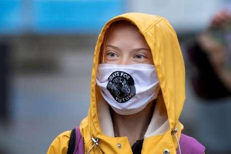 Ativista sueca Greta Thunberg  09/10/2020 Jessica Gow /TT News Agency/via REUTERS
